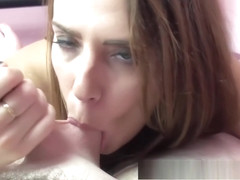 Curvy cutie Alisha Adams is blowing a lucky old dude
