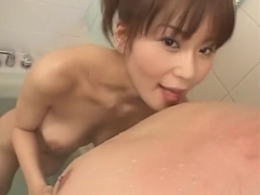 Hottest Japanese model Megu Ayase in Exotic Blowjob, Facial JAV clip