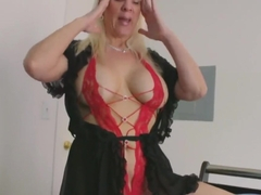 TABOO POV - Blonde Step-Mother Jerks You Off After Nightmare