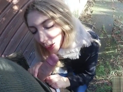 sweet teen gets public creampie from horny soldier - POV - Sarah Secret