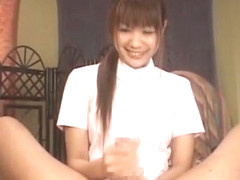 Hottest Japanese model Hinano Momosaki in Incredible Handjob, Couple JAV scene