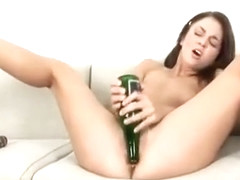 big bottle in my tight pussy