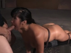 Sexy Asian Tied and Gangbanged