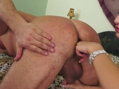 Straight Daddy gets Prostate Work out