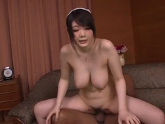 Charming buxomy Japanese Rie Tachikawa performing in hardcore XXX video