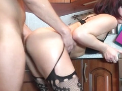 HOT TATTOOED LATINA MAID GETS FUCKED IN KITCHEN