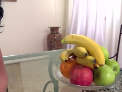 Betty and Nicole use fruit in a sexual manner