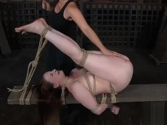 Claire Adams having an orgasm after cruel caning!!!