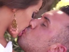 Godlike buxomy German young tart Madison Ivy getting drilled very hard in outdoor