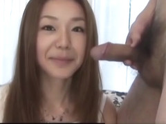 Sakura Hirota pleases with blowjob in sensual manners