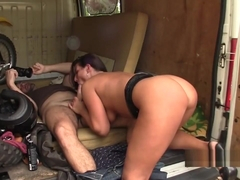 Big Ass Brunette Valentina Ross Gets Fucked In Both Holes