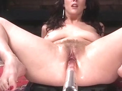 Kinky Goddess Cherry Torn Submits to Fucking Machines