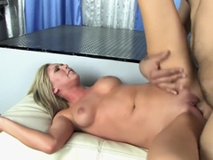 Wild blonde with perfect tits Brynn Tyler fully enjoys a hard pounding