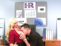 Desk Sex With The Big-Titted Supervisor - ScoreLand