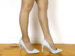 Captivating Heels  Nylons Shoeplay with Dipping and Dangling