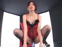 Incredible Japanese whore Nachi Sakaki in Crazy Lingerie, BDSM JAV video