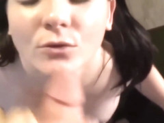 Brunette Gets Her Face Jizzed