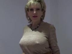 Cheating british mature lady sonia flaunts her big melons
