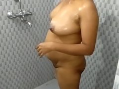 Indian Mom Bathroom Fingering Pussy During Shower