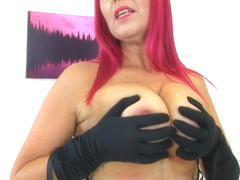 English Milf Bettie Hayward Fondles Her Intimate Parts With Red Xxx