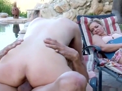 Real stepdaughter riding
