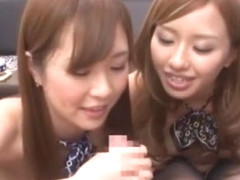 Best Japanese slut Kotone Amamiya, Sakura Ayane in Horny POV, Threesome JAV movie