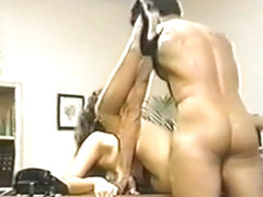 Peter North fucks Tamara Lee over a desk