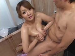 Chichi Asada Gets A Guy Off WIth Her Oily Boobs