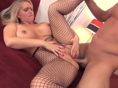 Milf In Fishnet Stockings Gets Slammed
