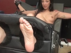 Stefania ticklish feet and naked