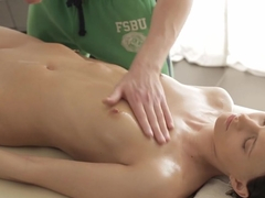 Kick-ass naked massage video