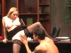 Secretary Black Strockings Aiden Starr Hard Fucking
