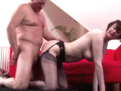 British sluts in stockings in threesome