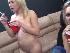 Best pornstars Hailey Holiday, Aria Austin in Incredible Squirting, Group sex porn video