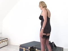 Unfaithful british milf lady sonia shows her massive boobies