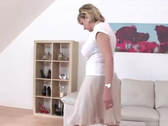 Unfaithful english milf lady sonia unveils her monster jugs
