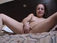 Teen laughs and fingers amateur pussy