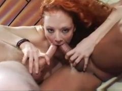 Exotic pornstar Audrey Hollander in best threesomes, dp sex video