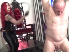 FEMDOM MISTRESS CRUEL WHIPPING CBT LEATHER