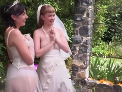 Australian bride tongued