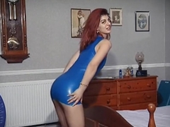 ASHA - latex dress dance, strip & dildo play