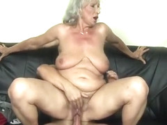 Norma Granny Fucked Riding Black Guy On Sofa With Granny Norma