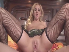 Kelly Wells in fishnets gets fucked