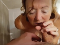 Jonsey loves getting pissed on,then deep throats cock