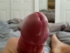 Pre cum running down shaft