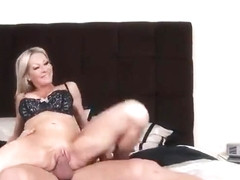 Golden-haired mature Emma Starr taking part in porn movie