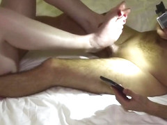 Ginger Footjob Cumshot | Rubbing Cock with Feet Soles till Cumshot Orgasm