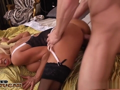 Blonde cougar Nikita Von James fuck