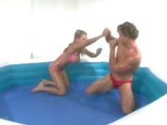 Vicky Vette Sexxxy Oil Wrestling 1