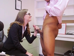 Tali Dova likes black cocks at work